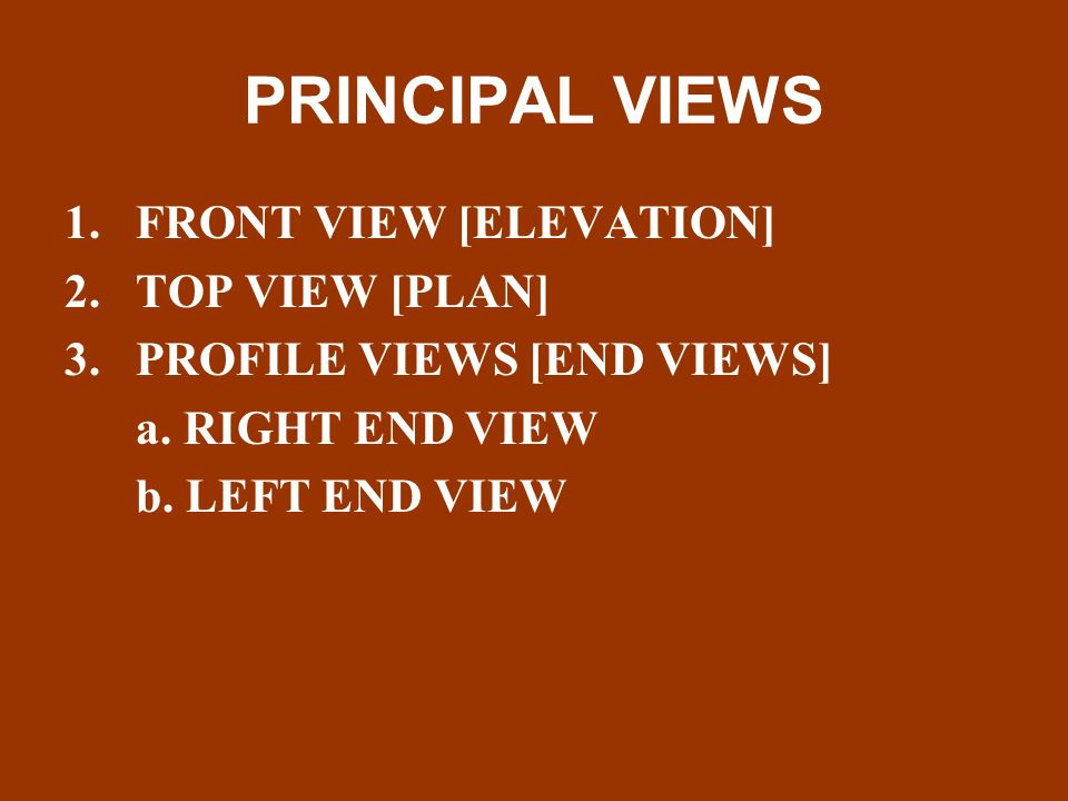 Elevation Plan End View : Chapter orthographic projections ppt video online